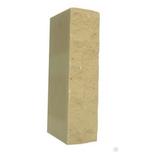 Кирпич силикатный одинарный рустированный желтый 1НФ Глубокинский