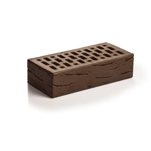 Кирпич лицевой пустотелый одинарный шоколад антик клинкер 1НФ