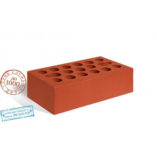 Кирпич керамический одинарный лицевой красный Керма 1 НФ