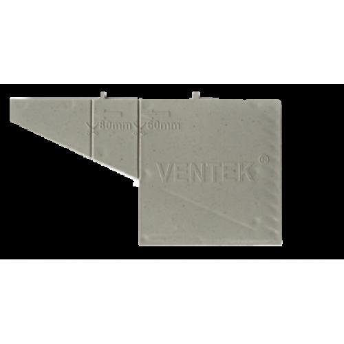Вентиляционная коробочка серая VENTEK