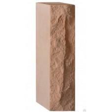 Кирпич силикатный утолщенный рустированный персик 1,4 НФ Глубокинский