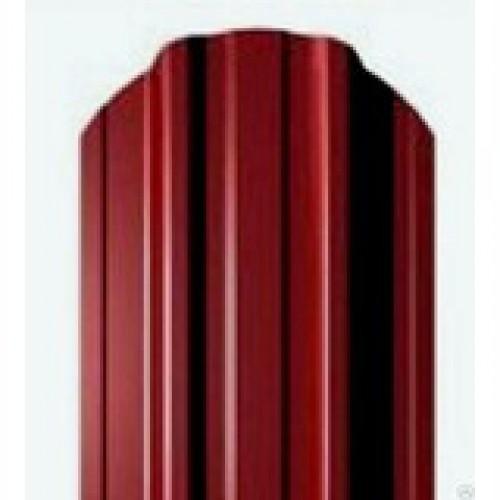 Металлический евроштакетник Эко Нова (вишневый)