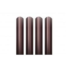 Металлический евроштакетник Гранд Хаус (шоколадный)