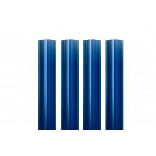 Металлический евроштакетник Гранд Хаус (синий)