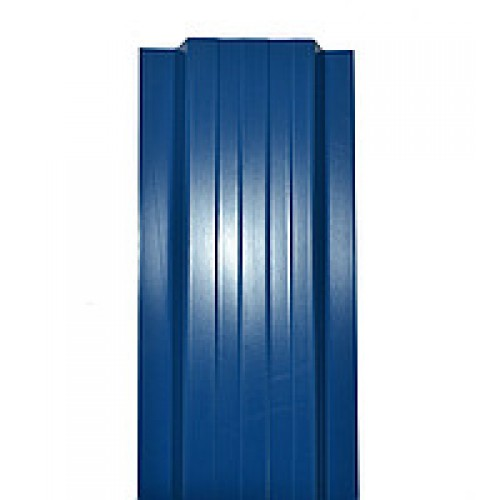 Металлический евроштакетник Эко Нова (синий)