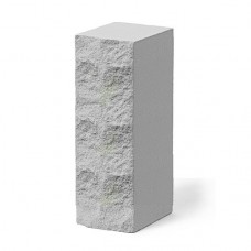 Кирпич силикатный утолщенный рустированный белый 1,4НФ Глубокинский