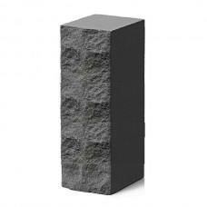 Кирпич силикатный утолщенный рустированный черный 1,4НФ Глубокинский
