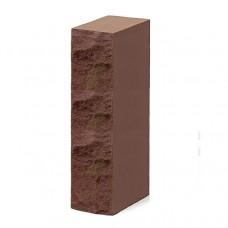 Кирпич силикатный одинарный рустированный коричневый 1НФ Глубокинский