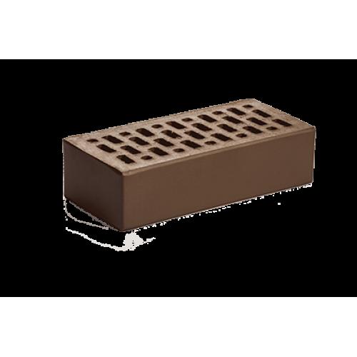 Кирпич лицевой пустотелый одинарный шоколад 1НФ