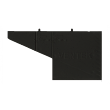 Вентиляционная коробочка чёрная VENTEK