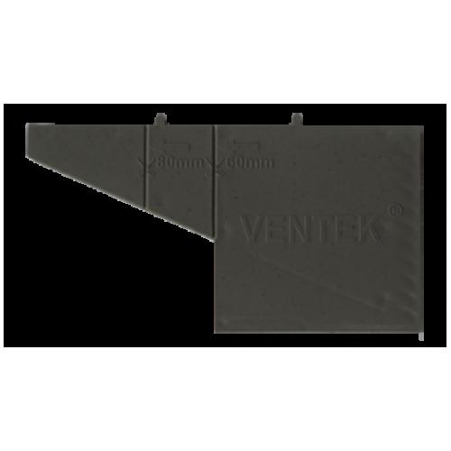 Вентиляционная коробочка тёмно-серая VENTEK