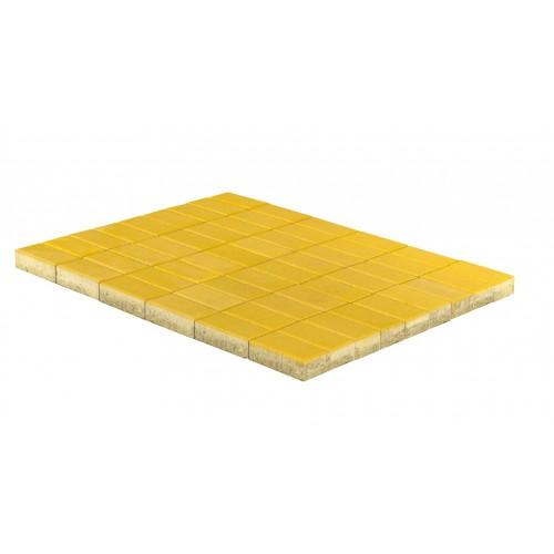 Тротуарная плитка ПРЯМОУГОЛЬНИК «Желтый»