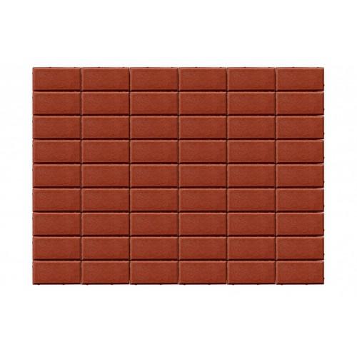 Тротуарная плитка ПРЯМОУГОЛЬНИК «Красный»